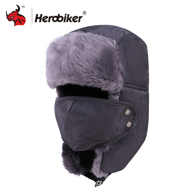 9b91278c990ed Motorcycle Face Mask Winter Moto Trapper Trooper Hat Balaclava Cap  Windproof Warm Ear Flap Ski Hunting