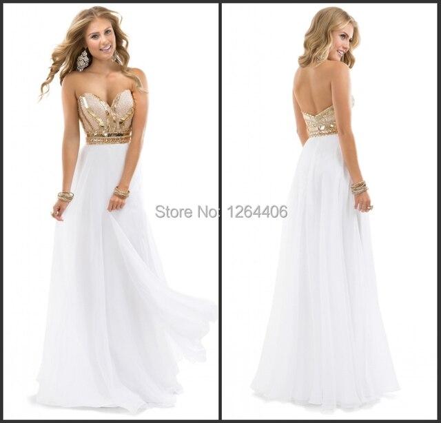 new product 2fdca 58f64 Vestito bianco lungo elegante – Vestiti da cerimonia