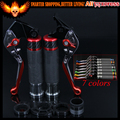 7 Colors Red+Titanium CNC Adjustable Motorcycle Brake Clutch Levers&Handlebar Hand Grips For Ducati 749/S/R 2003 2004 2005 2006