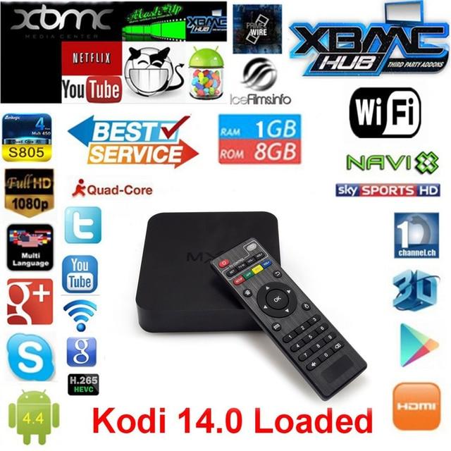 Vensmile Android Tv Box Amlogic S805 Quad Core 1 GB / 8 GB Smart Tv caja XBMC FULLY LOADED WiFi 1080 P H.265 HD Media Player