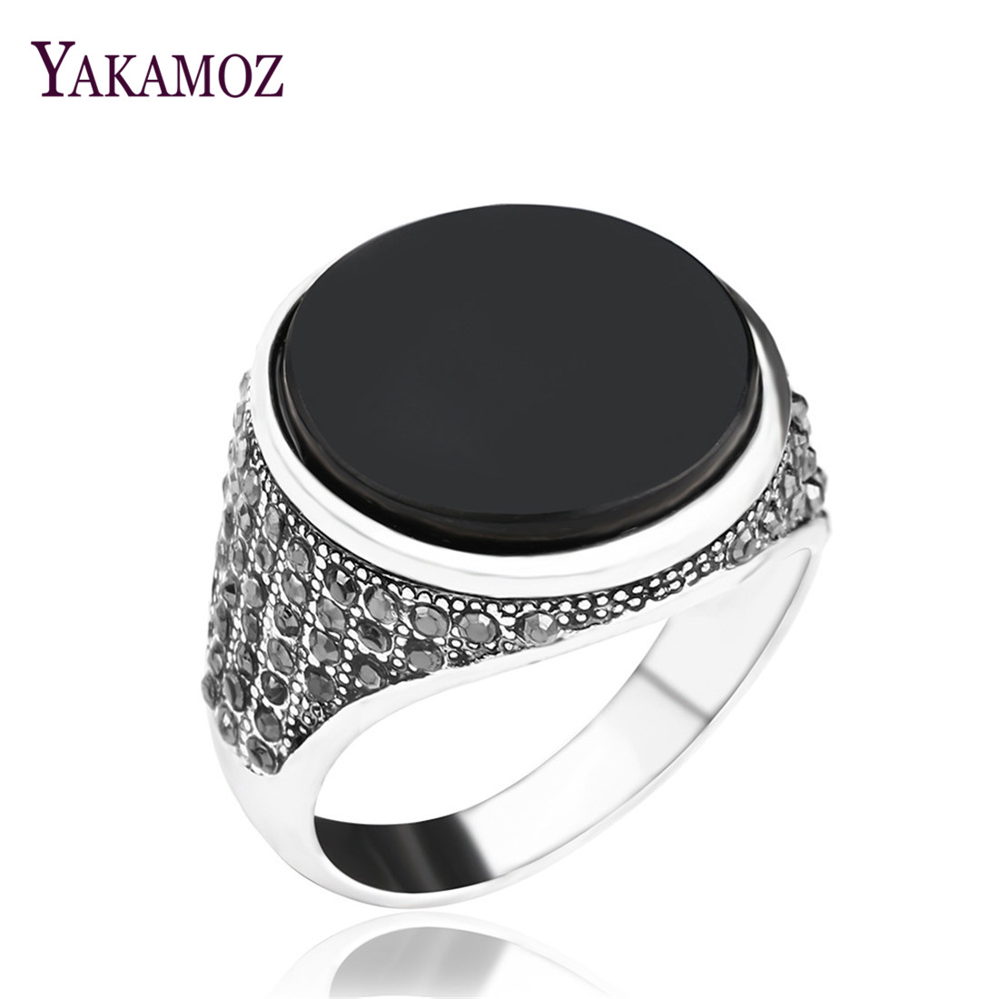 NEW Classic Black Resin Men Ring For Women Antique Silver Plated Turkey Vintage Jewelry Oval Charm Rings For Men-in Engagement Rings from Jewelry & Accessories on Aliexpress.com | Alibaba Group