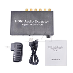 PZ 1PCS HDMI Audio Extractor Decode Coaxial Support 4K 3D 5.1CH RCA AC3DST 5.1 For PS4 DVD PlayerFor PS4 DVD Player Amplifier