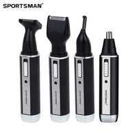 Rechargable Ear Nose Trimmer Electric Shaver Beard Face Eyebrows Nose Ear Hair Trimmer Automatic Removal 4in1
