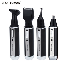 Rechargable Ear Nose Trimmer Electric Shaver Beard Face Eyebrows Nose Ear Hair Trimmer Automatic Removal 4in1 2in1 SPORTSMAN