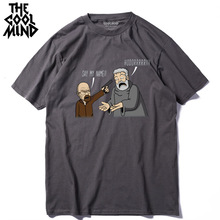COOLMIND QI0317A 100% cotton cool funny printed men
