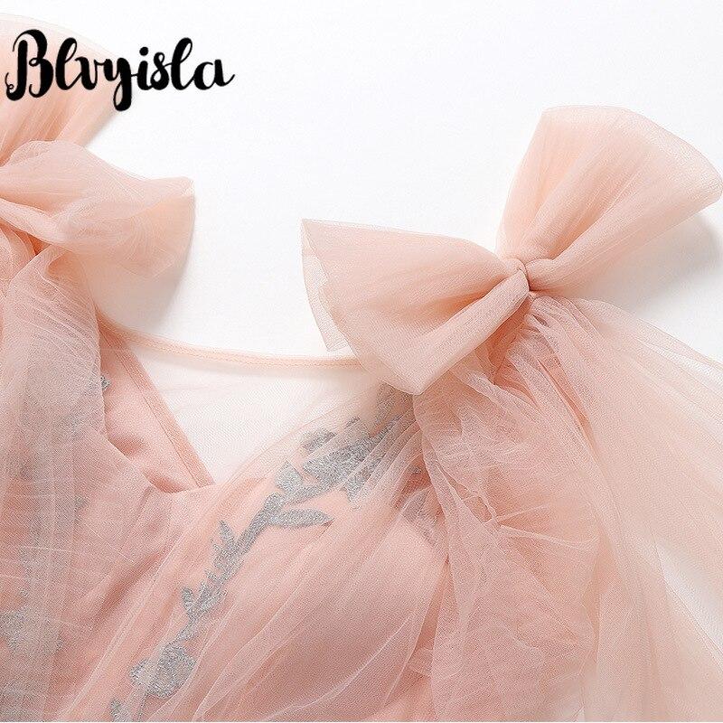 Princesse De Maille Multi Club Ruffle Mousseline Blvyisla Rose layered Night En Slim Pink Robes Soie Party Robe tHvfp