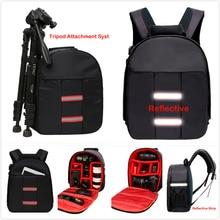Топ Универсальный светоотражающий DSLR камера сумка водостойкий tipod Фото чехол маленький компактный планшет камера рюкзак для Canon Nikon sony