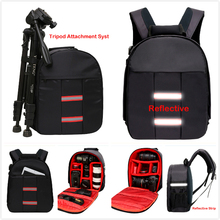 Top Universal Reflective DSLR Camera Bag Waterproof tipod Photo case Small Compact Tablet Camera Backpack for Canon Nikon Sony