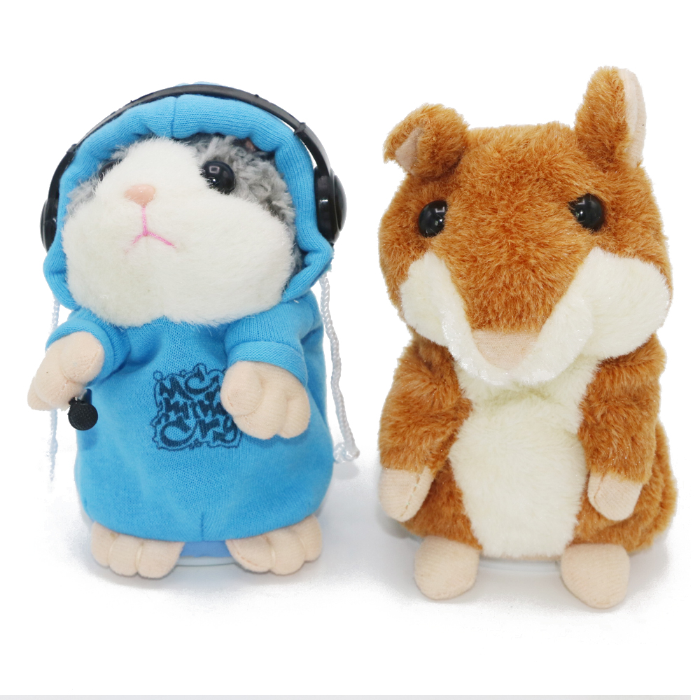 1pcs Talking Hamster Mouse Vole Headphone Pet Plush Toy Hot Cute Speak Talking Sound Record Hamster 1 pcs electric vocal hamster toy nodding talking hamster toy sound record repeat stuffed animal baby interactive toys kid s gift