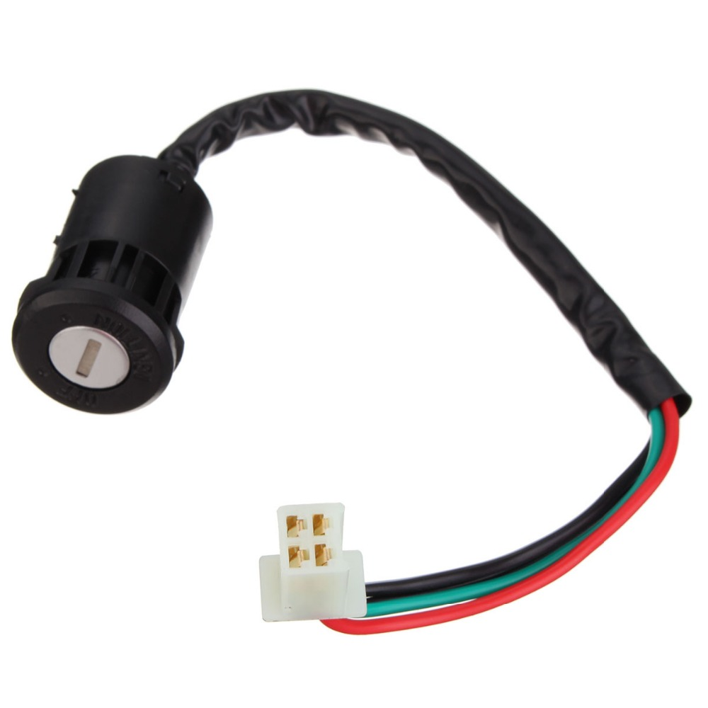 New 4 Wires 2 Ignition Keys Switch 50 70 90 110 125cc Fit Chinese ATV Go Kart