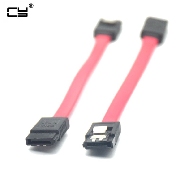 Hots Sale 10cm 7Pin 7P SATA Serial ATA Short DATA Cable For HDD SSD Cord Line 7pin Sata Short Cable 0.1m