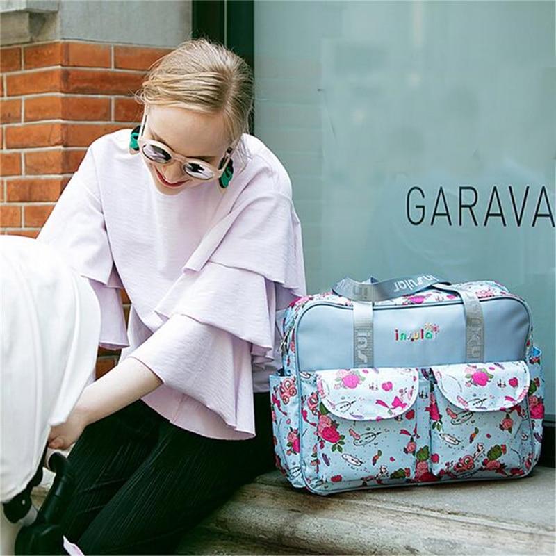 HTB1WyABLH2pK1RjSZFsq6yNlXXan Mummy Maternity Nappy Bag Stroller bolsa Large Capacity Baby Travel Backpack Mommy Nursing Bag Baby Care Changing Diaper Bag