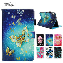 Wekays Fashion Cartoon Butterfly PU Leather Stand Holder Cover Case For Lenovo TAB 4 10 Plus TB-X704N TB-X704F 10.0 Tablet Case case for lenovo tab 4 10 plus tb x704l tb x704f tb x704n cover funda tablet stand cover leather case screen protector stylus