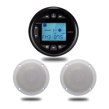 Bluetooth Marine Lautsprecher | Marine Gauge Radio Wasserdichte Bluetooth Radio FM AM Audio + 4 Zoll Marine Wasserdichte Lautsprecher Für Im Freien Boot SPA ATV UTV