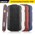 Imuca Оригинальные Случаи Телефона Для Samsung galaxy Trend S Duos S7562 GT-S7562 Плюс S7580 S7582 Flip Leather case Cover мешок