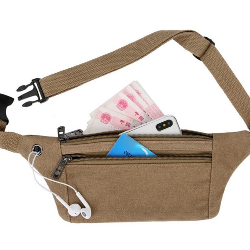 Running Mobile Phone Bag Multi-function Waterproof Mini Fitness Belt Bag Unisex Sport Canvas Belt Bag