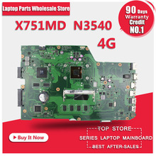 R752MD X751MD Motherboard For Asus N3540 4G Memory Processor GT820 2G REV2 0 Mainboard 90NB0600 R00010