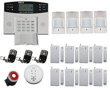 Freeship House Intelligent Burglar Security Alarm System Multi-language For Optional For Home/Office/Hotel Wireless GSM Alarm