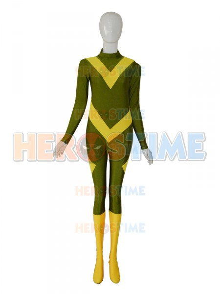 3D Printing Spandex Army Green & Yellow Color Custom  Cosplay Superhero Costume Zentai Suit Custom Made Available