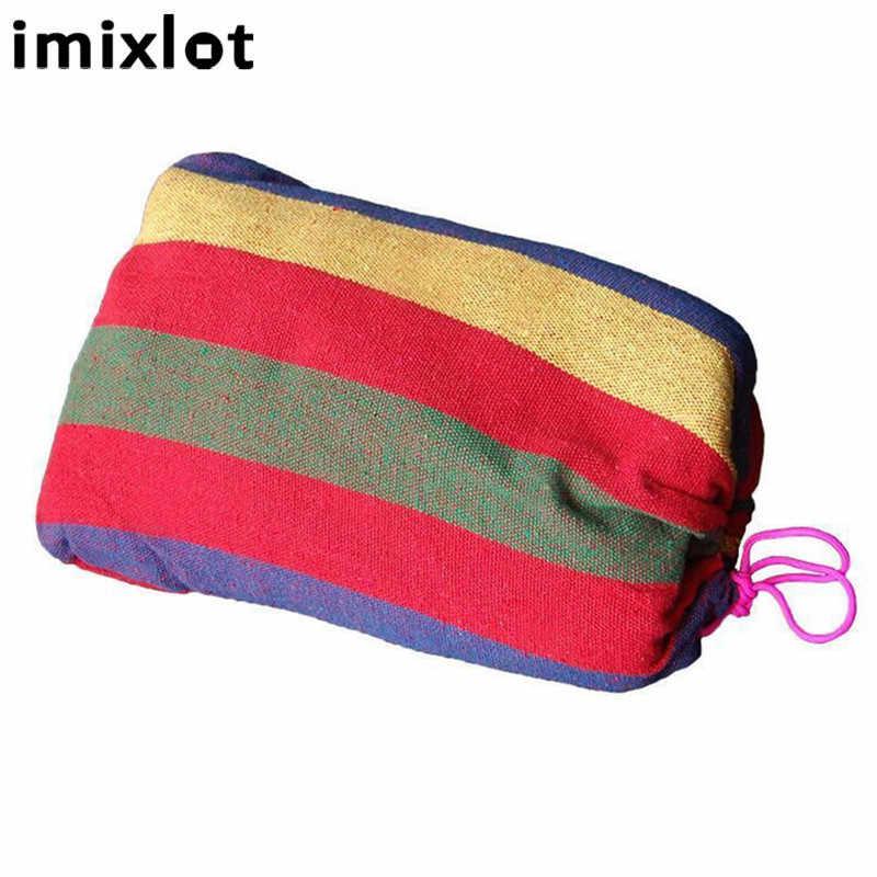 Imixlot 280*80 см 2 человек открытый гамак для отдыха кровать висит спальный холст качели гамак кемпинг питания