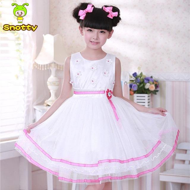 White And Blue Latest Dress Designs For Flower Dresses 7 Year Olds Whole Birthday