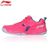 Li Ning Original Women Badminton Shoes Breathable Wearable Li Ning Sports Shoes Cushion Sneakers AYTM072