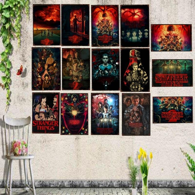 Stranger Things Film Étain Signe Métal Plaque Fer Peinture Enfants Chambre Mur Barre Cofe Maison Art Artisanat Décor 30X20 cm DU-1125