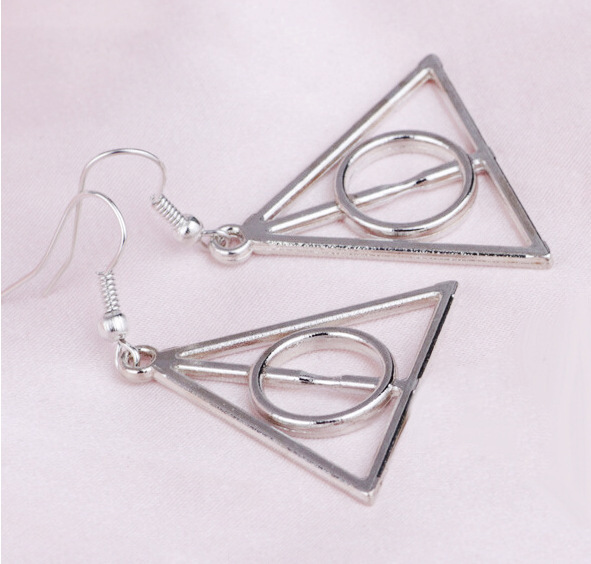 free shipping !Hot Sale  Luna Triangle Charm  Deathly Hallows earrings 20 pairs /lot   wholesale!