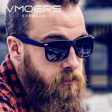 Фотография VMOERS Retro Polarized Sunglasses Men Women Black Matte Plastic Sun Glasses For Men Women Brand Vintage Rivet Shades Oculos Male