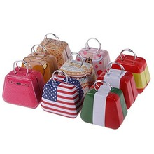 10PCS Handbag Shape Mini Small Tin Box Coin Candy Jewelry Little Storage Box organizer