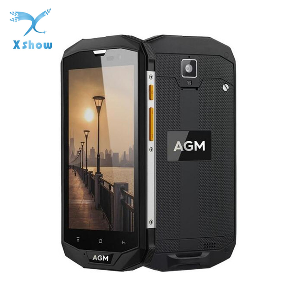 Original AGM A8 EU 5 0 HD IP68 4050mAh 4G Smartphone 4GB 64GB Waterproof Android 7