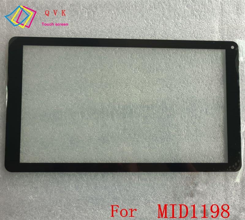Negro 10,1 pulgadas para eStar Grand HD Quad Core MID1198 Tablet pc capacitiva pantalla táctil digitalizador PC sensor