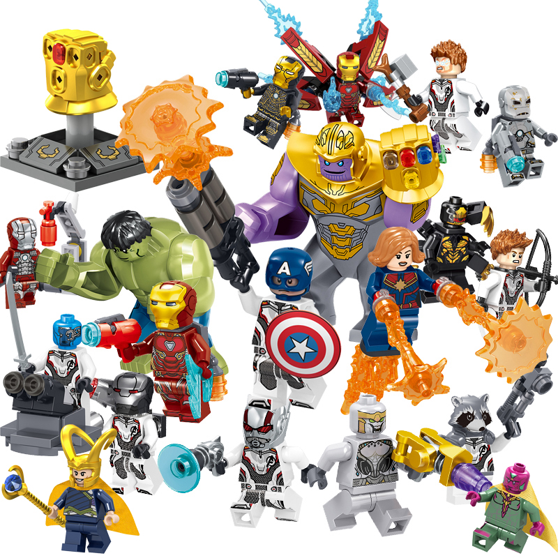 Bonus Draw String Bag Included MadeinUSA 10 Mini Super Heroes Avengers Figures