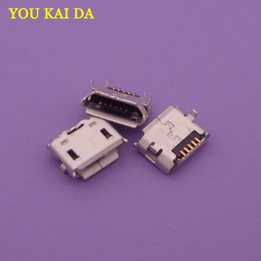 10pcs/lot NEW Micro USB jack Connector Socket For Asus Transformer FE170CG K012 FONEPAD7 FE170 / For <font><b>HTC</b></font> <font><b>HD2</b></font> <font><b>T8585</b></font> G10 image
