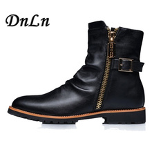 Men Ankle Boots Warm Waterproof Combat Boot New Soft Genuine Leather Military 3#15/15D50