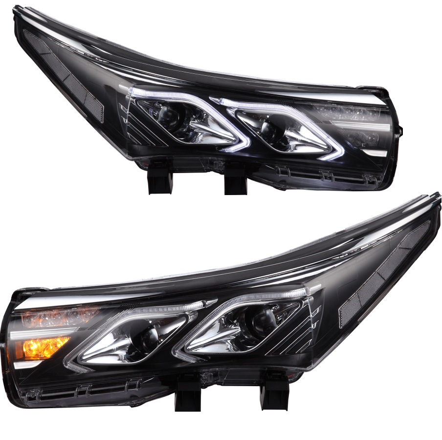 VLAND manufacturer for Car head lamp for Corolla LED Headlight 2014 2015 2016 Head light with xenon HID projector lens and Day