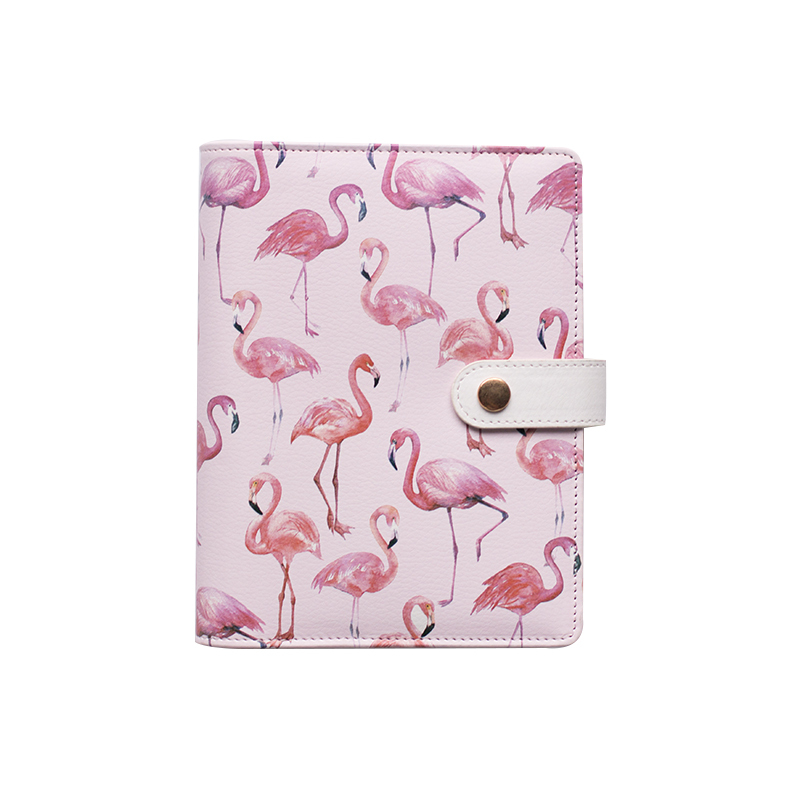 A6 Cute Spiral Notebook Notepad PU Leather Colored Flamingo Sakura Planner Kawaii Diary Book School Office Supply Papelari a6 cute spiral notebook notepad pu leather colored flamingo sakura planner kawaii diary book school office supply papelari