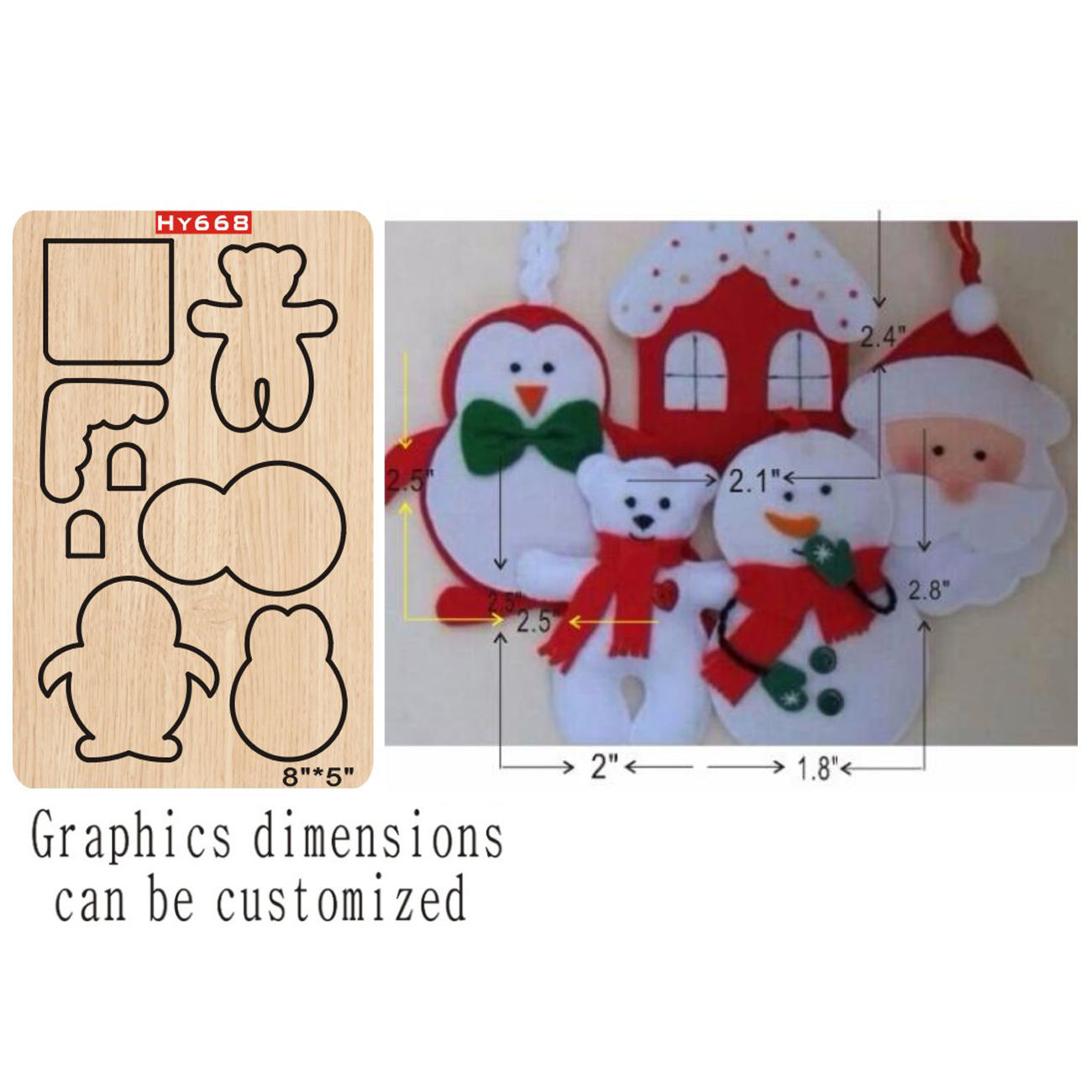 Christmas Ornaments Cutting Dies 2019 New Die Cut &wooden Dies Suitable  For Common Die Cutting  Machines On The Market