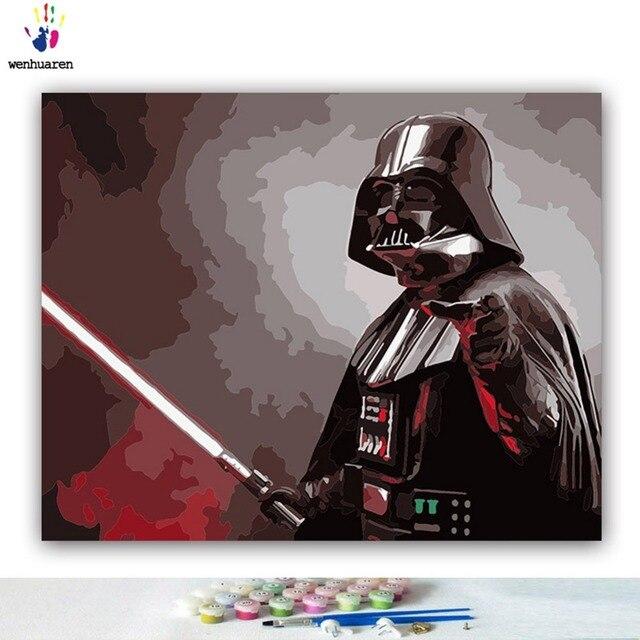 Peinture à numéros Star Wars Darth Vader La guerre des étoiles 4