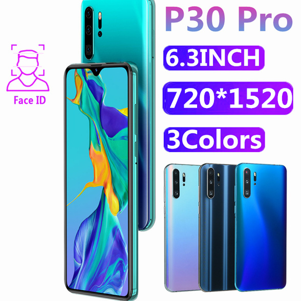 Original P30 Pro Mobile Phone 4GB RAM 64GB ROM 6.3INCH 13MP 4800mAh Face Recognition Unlocked Smartphones Android OS Cellphones