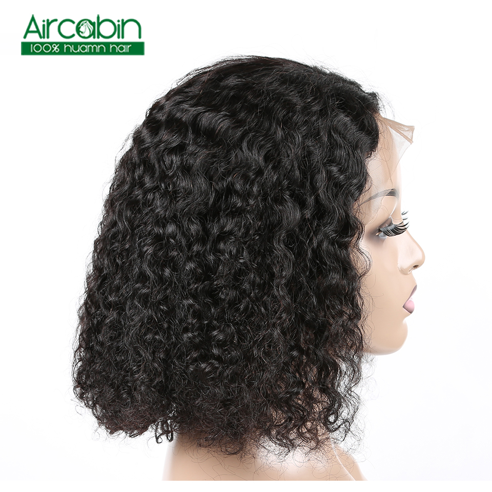 Curly Lace Front Wig Short Bob Wigs For Woman Short Pixie Cut Wig 13X4 Brazilian Non