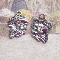 BANMAR 15 pcs Skull charms 15*20mm Antique Silver Making Jewelry Silver Charms DIY Bracelet Necklace Accessories B4588