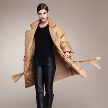 2016 new winter super high tide warm light profile size in the long thick fringed jacket cotton dress coat