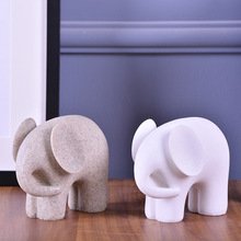 MRZOOT Animal statue elephant sandstone sculpture resin crafts European creative home white sand decorative ornaments