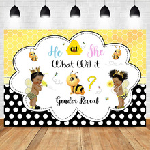 Gender Reveal Backdrop Africa Boy or Girl Baby Shower Photography Background Prince or Princess little Bee Baby Shower Backdrops mehofoto bee baby shower backdrop a sweet little bee sunflower photography background honey bumble bee baby shower party banner