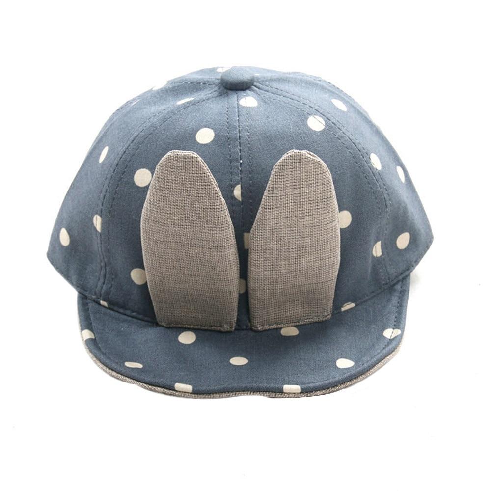 Fashion Baby Boys Girls Beanie caps Long lovely Rabbit Ears Children Dots Hats super quality caps