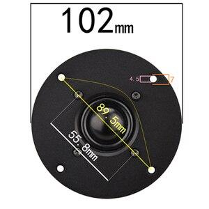 Image 5 - HIFIDIY LIVE Q1S 4.5 inch 4.7 Tweeter Speaker Unit aluminum panel Black Silk membrane 6 OHM30W Treble Loudspeaker 110/116/120mm