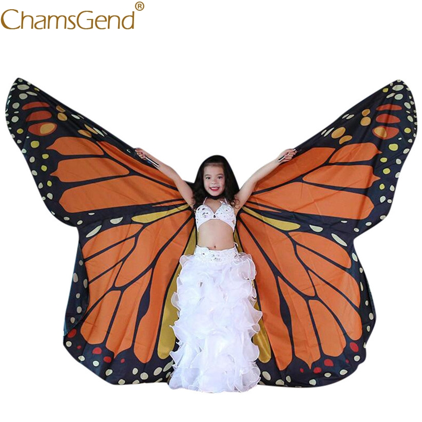 ZODRQ Bohemian Butterfly Wings Print Shawl Costume Accessory Halloween Party Child Kids Boys Girls 118x48CM