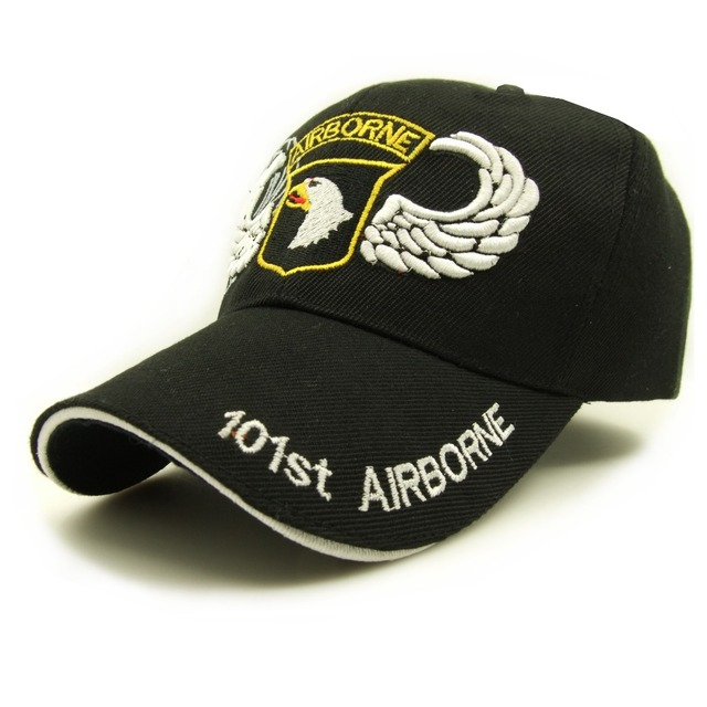 e75ba0d7b77 101st Airborne Division Air Assault Army Military Fans Special Operations  Forces Adjustable Baseball Cap For Hardboiled Bronco