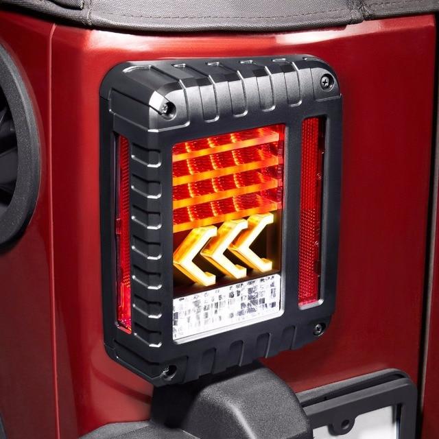 Jeep Wrangler Led Tail Lights >> Led Tail Lights Reverse Lamps Amber Arrow Turn Signal Eu Us For
